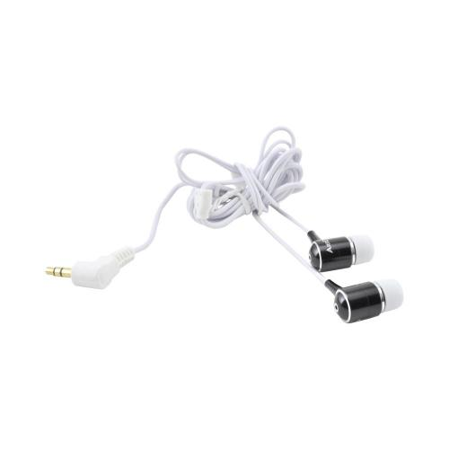 OEM Kinyo High Fidelity Earbuds w/ Extra Bass (3.5mm), KY-11004BLACK - Black/ White