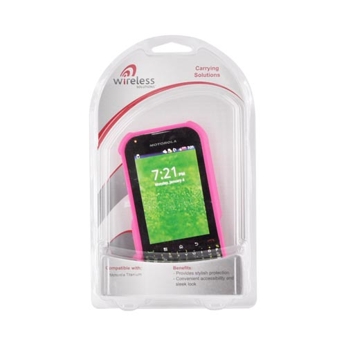 Super Premium Motorola TITANIUM Rubberized Hard Case - Pink