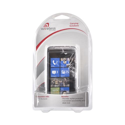 Premium HTC Surround Hard Case - Transparent Clear