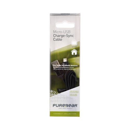 Original PureGear Universal Micro USB/ USB Charge-Sync Cable, 34675PUW - Black