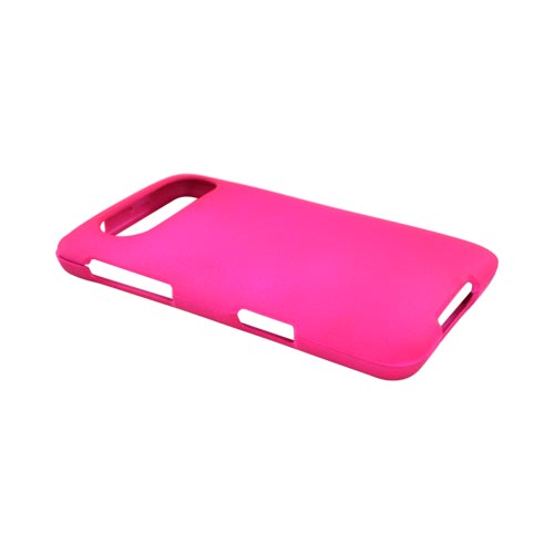 Premium HTC HD7 / HTC HD7s Rubberized Hard Case - Hot Pink