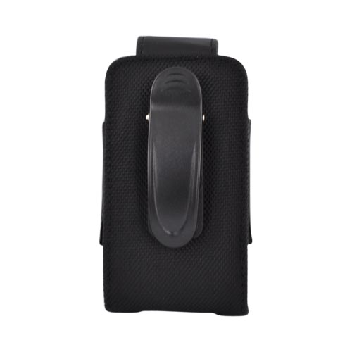 Premium Vertical Leather Pouch w/ Belt Clip, 386025 - Black (PUTL)