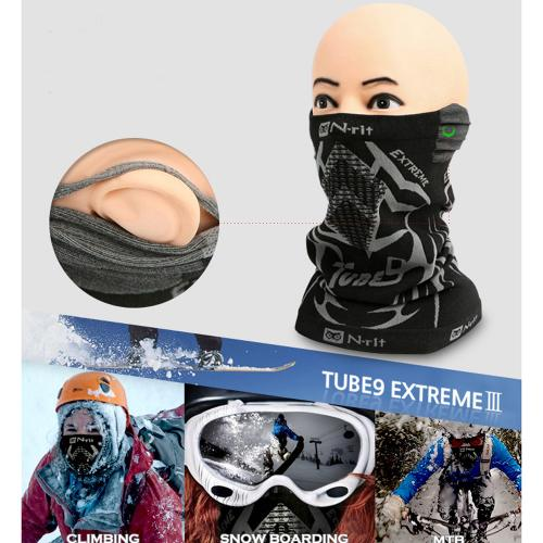 [n-rit Tube 9 Extreme 3] Multifunctional Face Mask Headwear Durable Lightweight W/ Dual Ventilation Breathing System And Ear Muff [Red/Black]