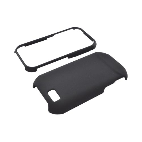 Super Premium Motorola TITANIUM Rubberized Hard Case - Black