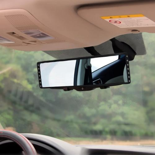 Car Accessories [Black] Diamond Room Extra & Wide View Mirror