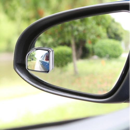 "Blind Spot Mirror 1.97"" Fan Shape, Convex, Universal for all Cars, Trucks & Motorcycles [Chrome]"