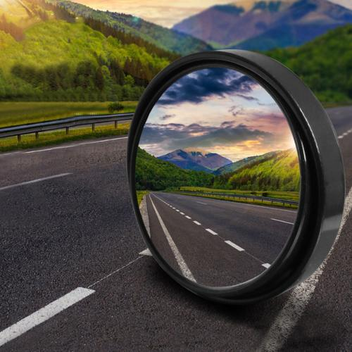 "Car Accessories [Black] Blind Spot Mirror Convex SR100 (1.97"")"