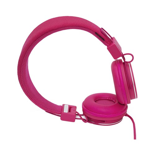 Original Urbanears Plattan Universal Over Ear Collapsible Headphones w/ Mic/ Remote/ Fabric Cord, 4090500 - Raspberry (3.5mm)