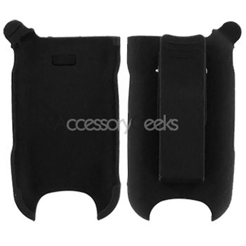 Premium LG CU400 Rubberized Holster w/ Swivel Belt Clip - Black