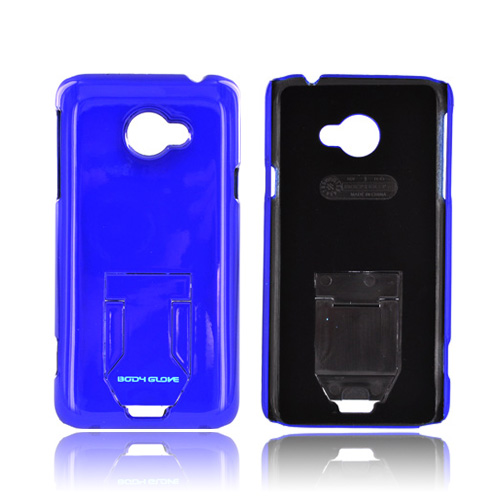 Body Glove HTC EVO 4G LTE Slim Hard Case w/ Built-In Pull Out Kickstand, CRC92778 - Blue