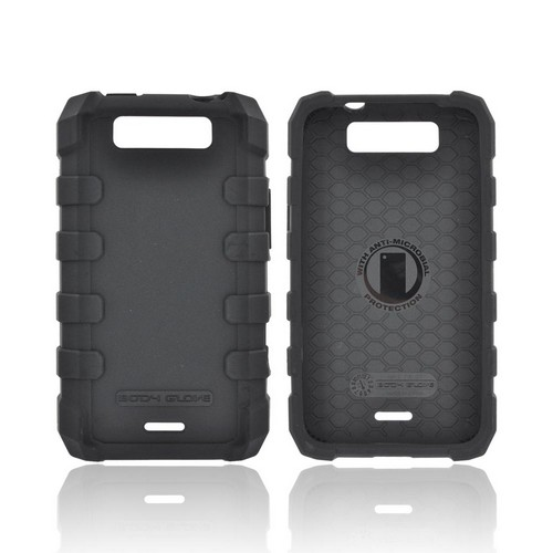 Body Glove LG Viper 4G LTE/ LG Connect 4G Drop Suit Crystal Silicone Case w/ Textured Lines - Black