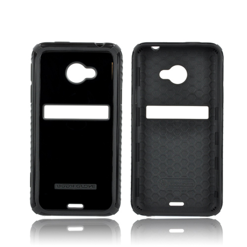 Body Glove HTC EVO 4G LTE Dimensions Slim Protective Crystal Silicone Case - Black