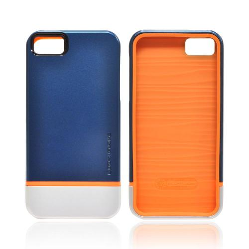 OEM Body Glove Icon Hybrid Apple iPhone 5/5S Dual Layer Case - Blue/ Silver/ Orange