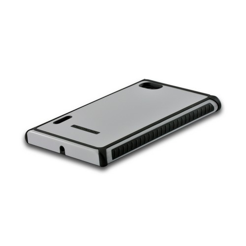 Body Glove White/ Gray Tactic Series Hybrid Hard Case for LG Intuition