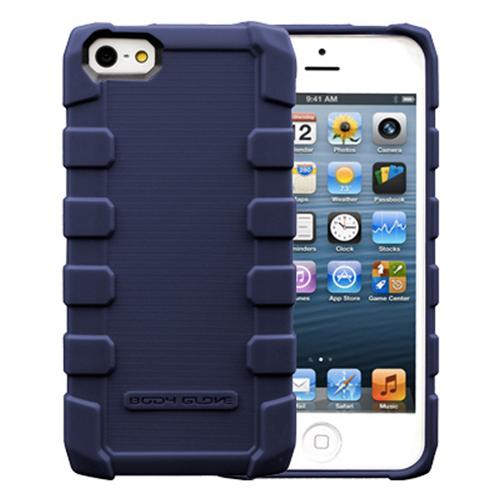 OEM Body Glove Apple iPhone 5/5S Drop Suit Crystal Silicone Case w/ Textured Lines  CRC93071 - Nave Blue