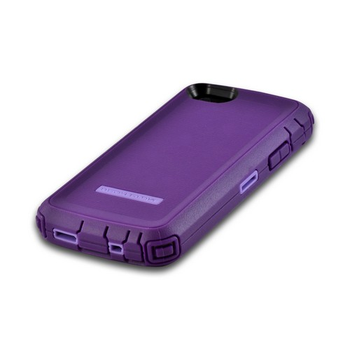 Body Glove Purple Tough Suit Series Crystal Silicone Over Hard Case w/ Holster & Built-In Screen Protector for Apple iPhone 5