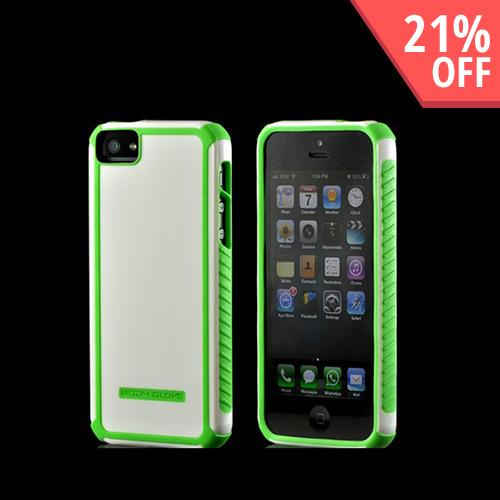 Body Glove Lime Green/ White Tactic Series Hybrid Hard Case for Apple iPhone 5/5S