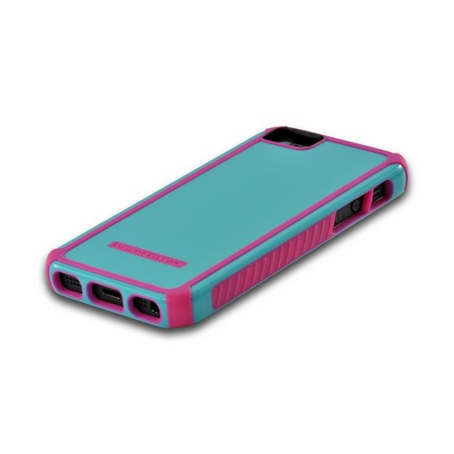 Body Glove Lime Sky Blue/ Hot Pink Tactic Series Hybrid Hard Case for Apple iPhone 5/5S