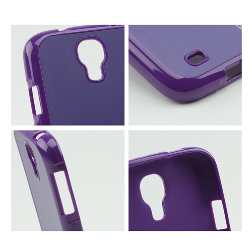 Body Glove Purple Fusion Steel Crystal Silicone Case w/ Brushed Metal Back for Samsung Galaxy S4- 9344903