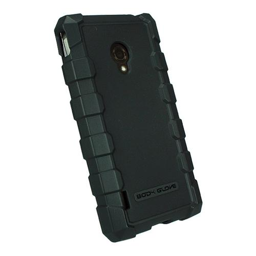 Body Glove Black DropSuit Crystal Silicone Case w/ Textured Lines for LG Lucid 2 - 9353101