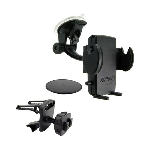 Arkon Mega Grip Universal Smartphone Windshield/Air Vent/Dashboard Mount - Black
