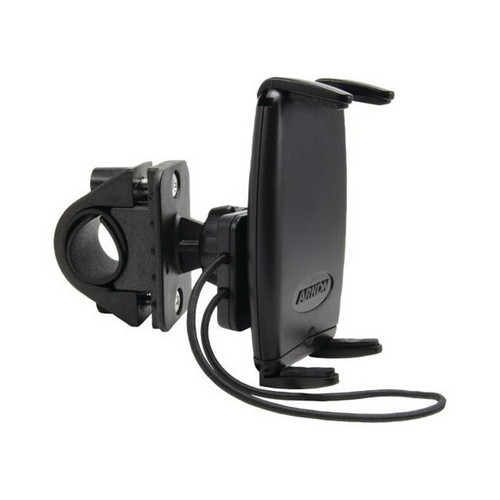 Arkon Universal Bicycle/ Motorcycle Handlebar Mount w/ Bungee Securing Strap - Black