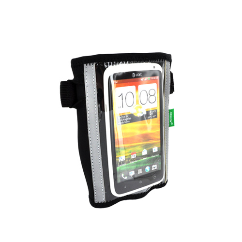 "Arkon Universal Large Cell Phone (Up to 4.7"") Forearm Armband Pouch - Black Solid"