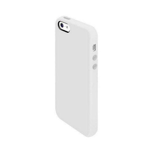 OEM SwitchEasy Colors Apple iPhone 5 Silicone Case w/ Screen Protectors & Dust Covers - Milk White