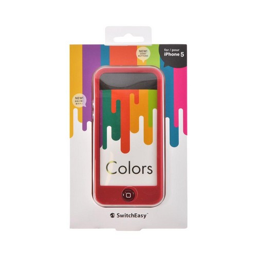 OEM SwitchEasy Colors Apple iPhone 5 Silicone Case w/ Screen Protectors & Dust Covers - Crimson Red