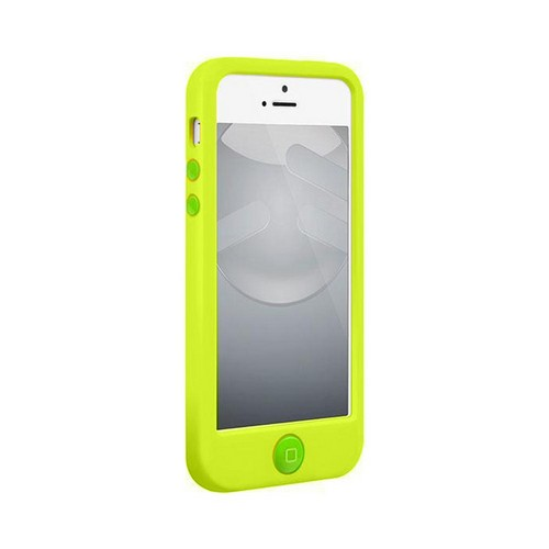 OEM SwitchEasy Colors Apple iPhone 5 Silicone Case w/ Screen Protectors & Dust Covers - Lime Green