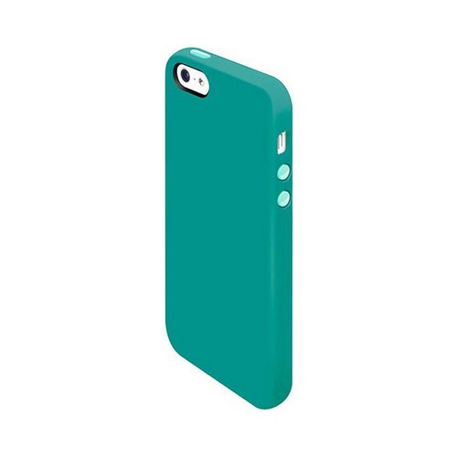 OEM SwitchEasy Colors Apple iPhone 5 Silicone Case w/ Screen Protectors & Dust Covers - Turquoise
