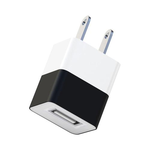 Universal Apple USB Input Travel/ Home Hi-Tech Wall Charger Adapter (2A) - Black (Can Charge iPad!)