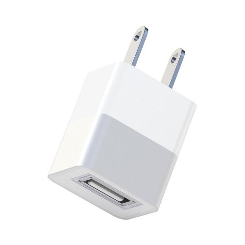 Universal Apple USB Input Travel/ Home Hi-Tech Wall Charger Adapter (2A) - Silver (Can Charge iPad!)