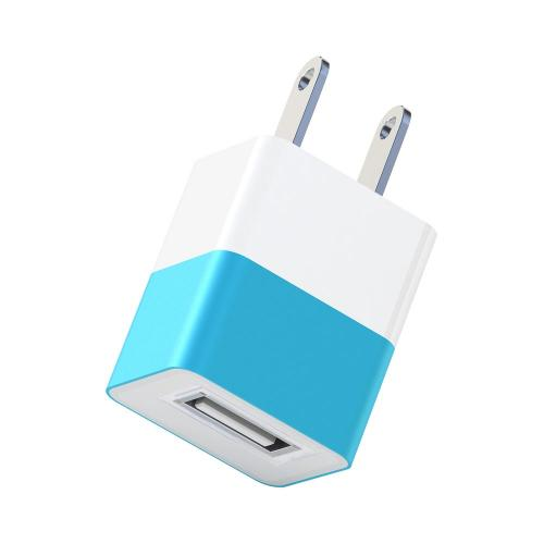 Universal Apple USB Input Travel/ Home Hi-Tech Wall Charger Adapter (2A) - Blue (Can Charge iPad!)