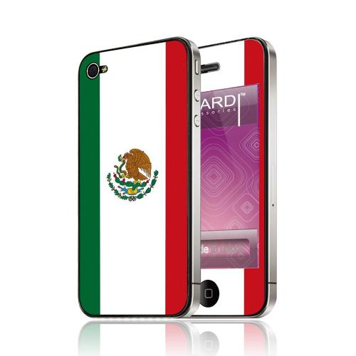 OEM Luardi Apple iPhone 4/4S Reusable Protective Skin - Mexican Flag