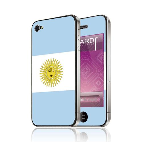 OEM Luardi Apple iPhone 4/4S Reusable Protective Skin - Argentinian Flag
