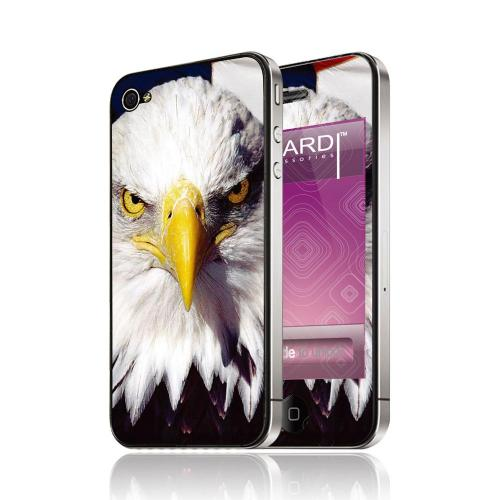 OEM Luardi Apple iPhone 4/4S Reusable Protective Skin - American Bald Eagle