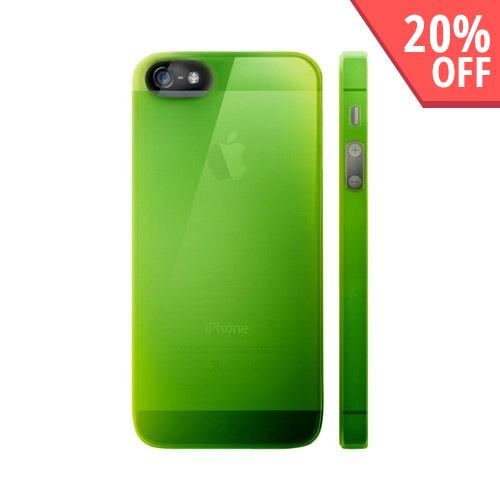 OEM Luardi Apple iPhone 5 Crystal Hard Case - Transparent Green