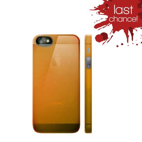 OEM Luardi Apple iPhone 5/5S Crystal Hard Case - Transparent Orange
