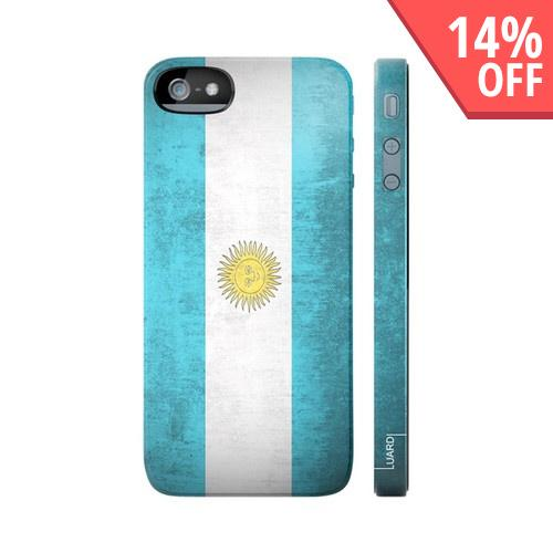 OEM Luardi Apple iPhone 5 Hard Case - Argentinian Flag