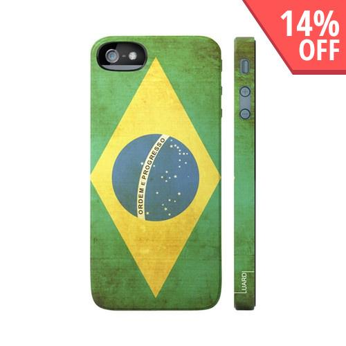 OEM Luardi Apple iPhone 5 Hard Case - Brazilian Flag