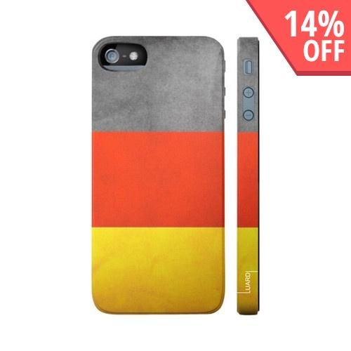 OEM Luardi Apple iPhone 5 Hard Case - German Flag