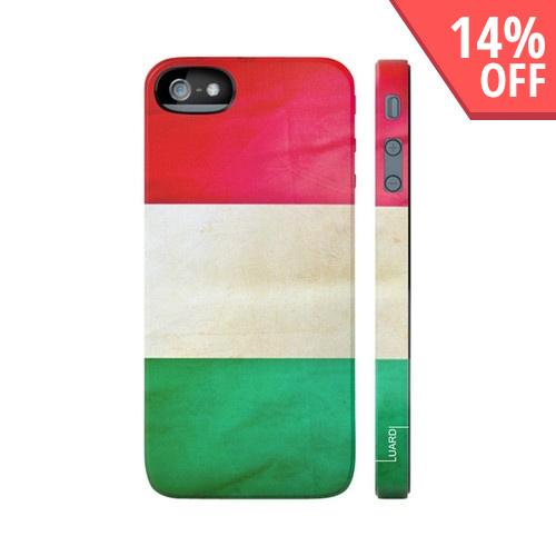 OEM Luardi Apple iPhone 5 Hard Case - Italian Flag