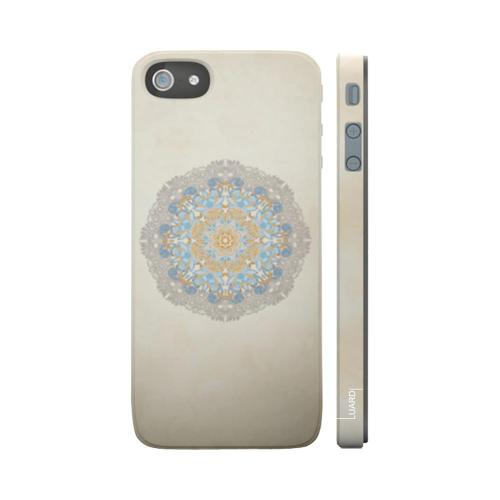 OEM Luardi Apple iPhone 5 Hard Case - Blue Bohemian Bouquet on White