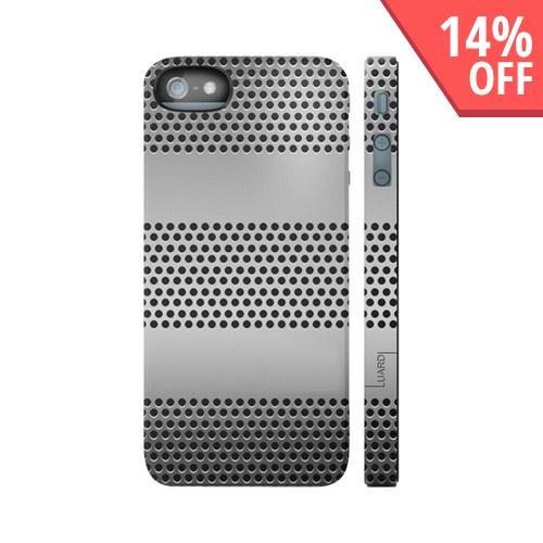OEM Luardi Apple iPhone 5 Hard Case - Black/ Silver Chrome Design