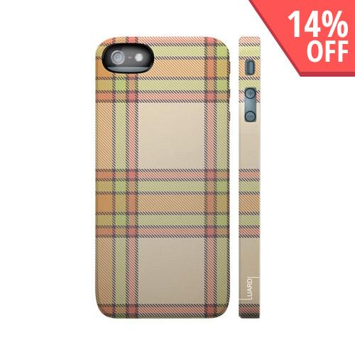 OEM Luardi Apple iPhone 5 Hard Case - Scottish Beige Tartan