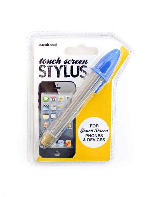 Suck UK Clear/ Blue Pen Universal Touch Screen Stylus - (Not an Actual Pen)