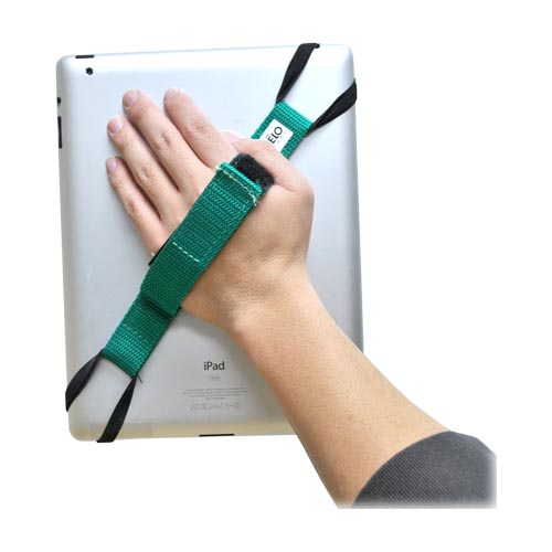 Original Helo Apple iPad (All Models) 360° Rotating Tablet Strap - Green (Excluding iPad Mini)
