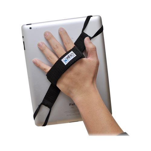 Original Helo Apple iPad (All Models) 360° Rotating Tablet Strap - Black (Excluding iPad Mini)