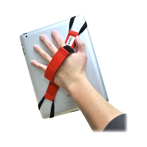 Original Helo Apple iPad (All Models) 360° Rotating Tablet Strap - Red (Excluding iPad Mini)